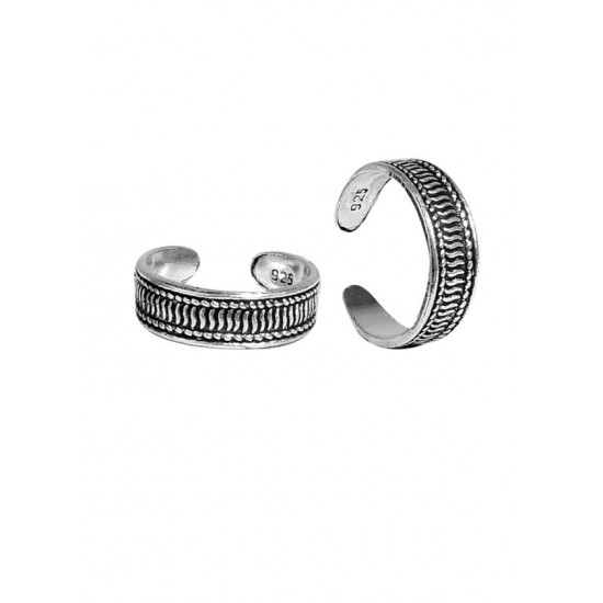 Beautiful pair of Oxidized Toe Rings Bichiya pure 925 Sterling Silver Adjustable Toe Rings for Gift Women and Girls Mom Bhabhi Sister Wife