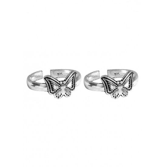 Good looking pair of Toe Rings Bichiya pure 925 Sterling Silver Adjustable Toe Rings for Gift Women and Girls Mom Bhabhi Sister Wife